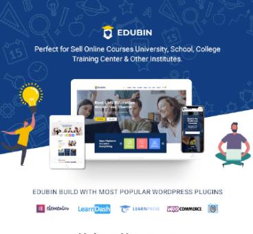 Edubin – Education LMS WordPress Theme