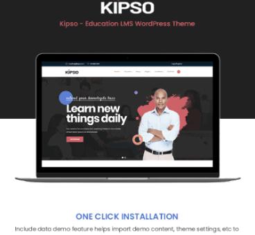 Kipso – Education LMS WordPress Theme