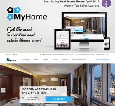 MyHome – Real Estate WordPress Theme