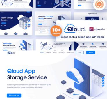 Qloud – Cloud Computing, Apps & Server WordPress Theme